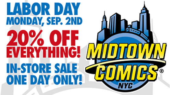 Labor Day sale! Save 20% off everything in-store all day Monday Sept. 2nd