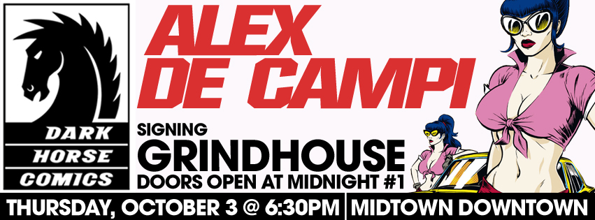 Alex de Campi signing Grindhouse: Doors Open at Midnight #1 @ Midtown Comics Downtown | New York | New York | United States
