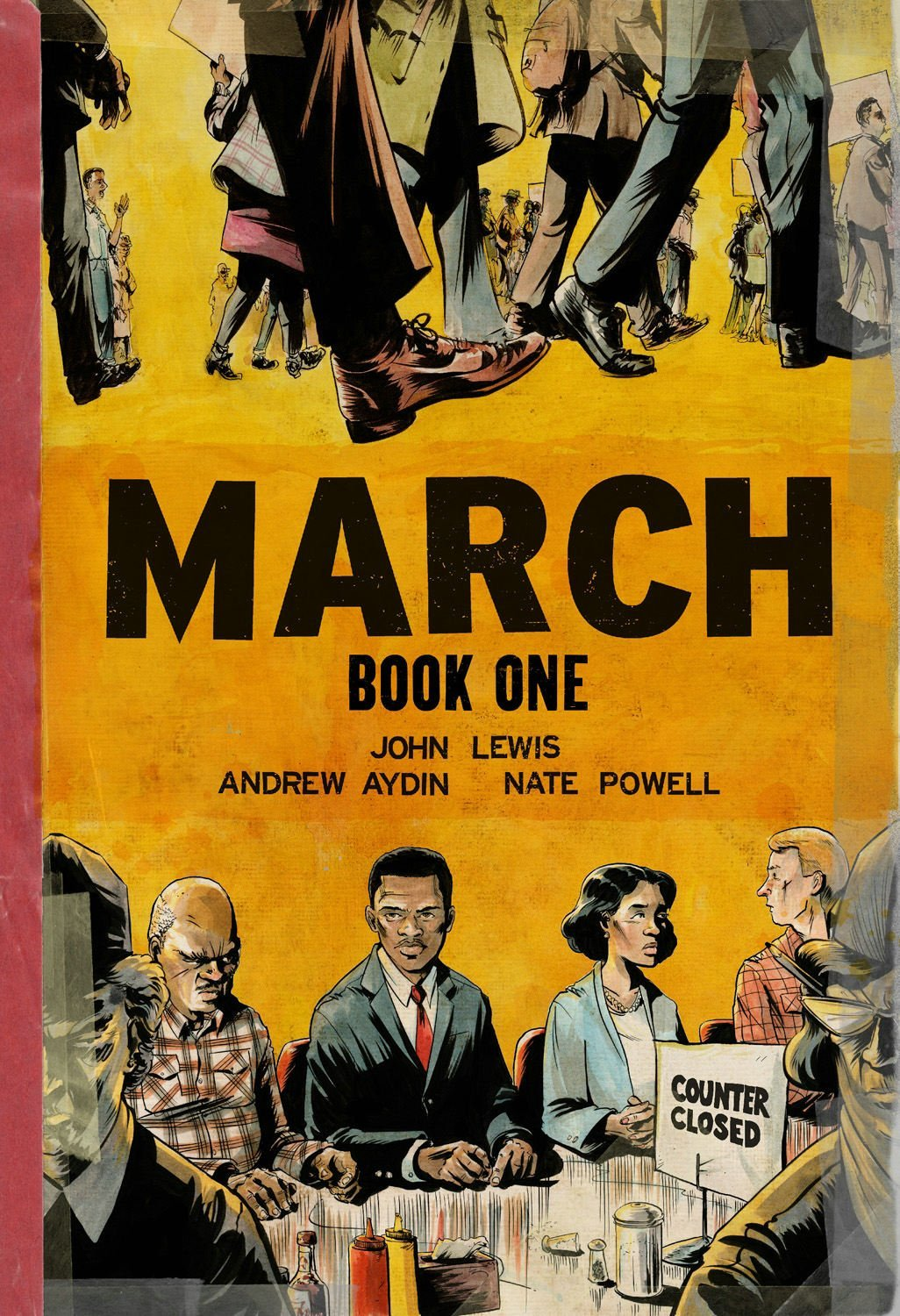 Congressman John Lewis signing MARCH Book One with Andrew Aydin and Nate Powell @ Midtown Comics Downtown | New York | New York | United States