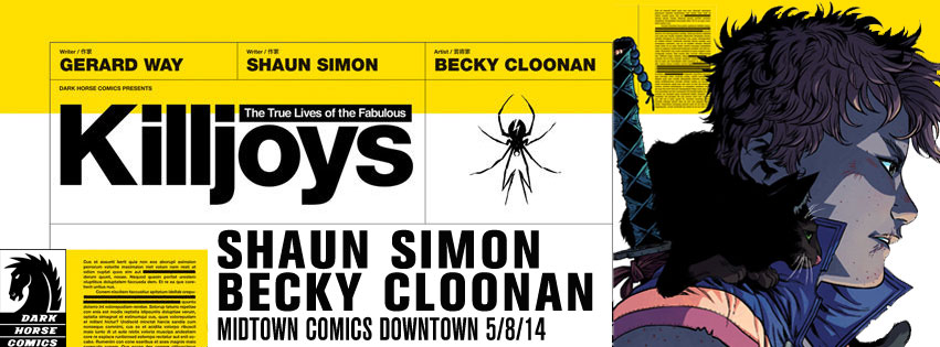 Shaun Simon and Becky Cloonan signing True Lives Of The Fabulous Killjoys @ Midtown Comics Downtown | New York | New York | United States