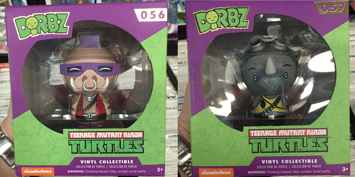 TMNT Bebop and Rocksteady collectibles