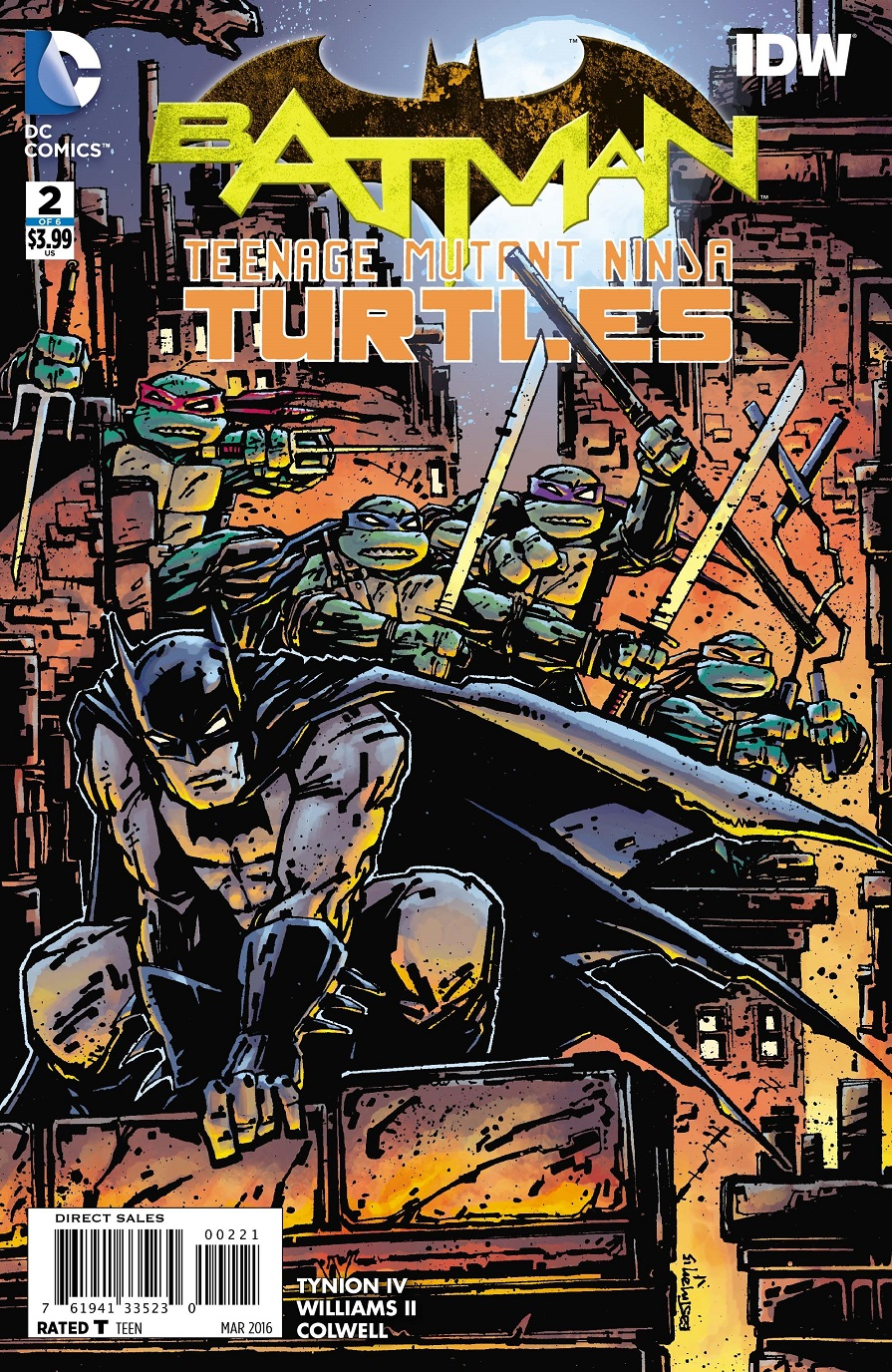 Batman Teenage Mutant Ninja Turtles Kevin Eastman Variant Cover