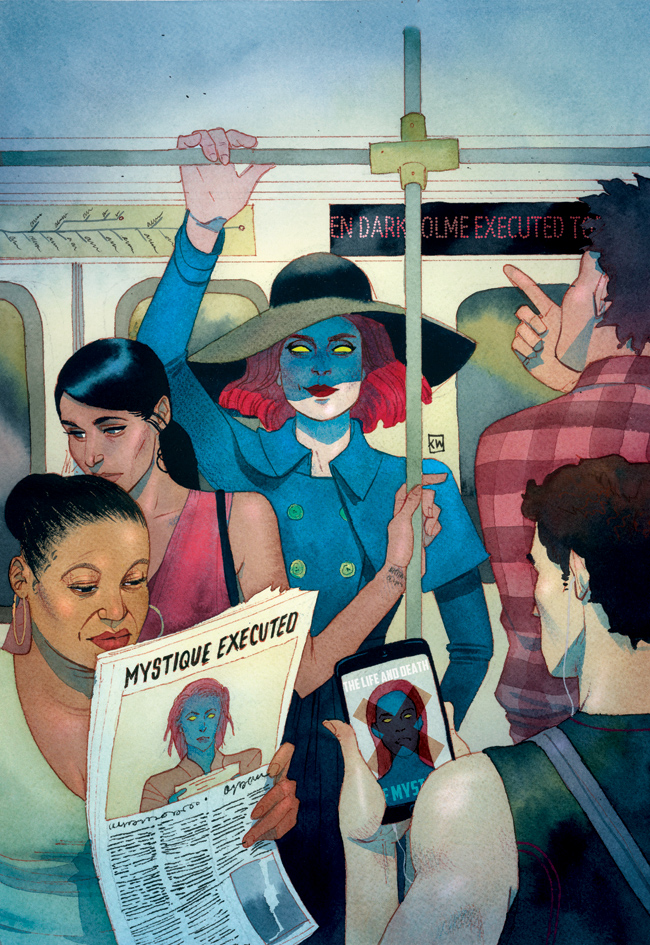 Midtown Comics Captain America Death of X by Kevin Wada