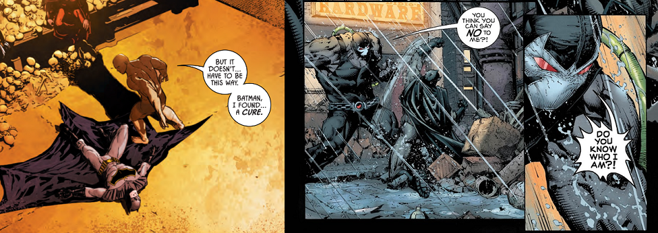 Batman #13 written by Tom King; artwork by Mikel Janin and June Chung; Batman #18 written by Tom King; artwork by David Finch, Danny Miki, and Jordie Bellaire