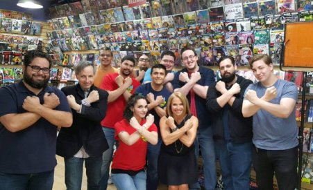 Midtown Comics Wonder Woman Katie Couric Group