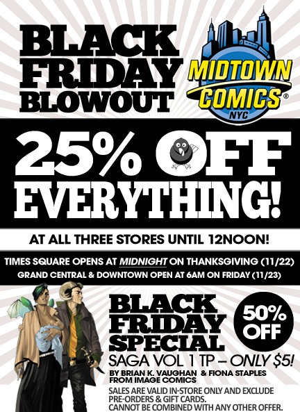 How to use Midtown Comics Coupons Pay close attention to the banner ads at Midtown Comics to find where all their current deals and promotional prices are. You can also find coupon codes at the top of their homepage, good for a percentage off certain purchases.
